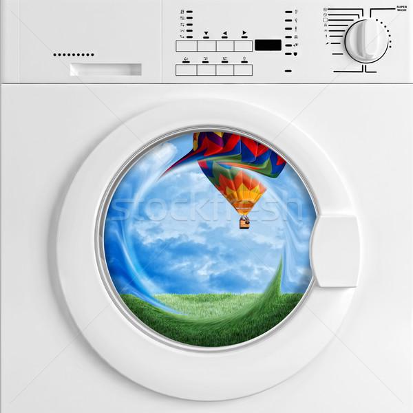 eco washing machine Stock photo © tiero