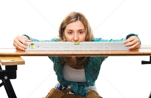 woman on duty Stock photo © tiero