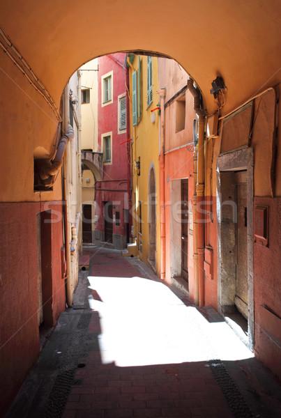 street of menton Stock photo © tiero
