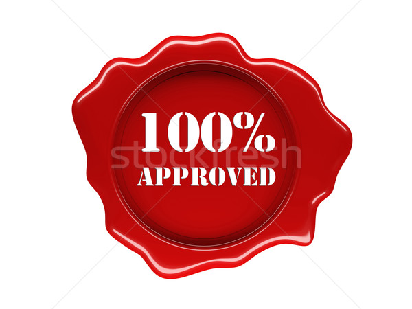 wax seal approved Stock photo © tiero