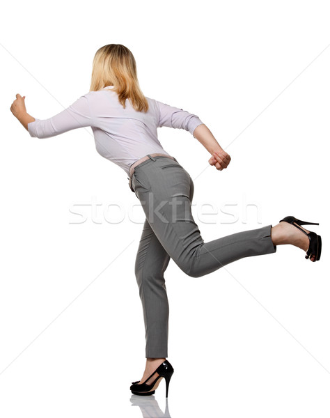 running woman back view Stock photo © tiero