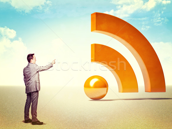 Stock photo: man and rss