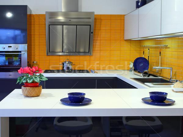 modern kitchen Stock photo © tiero