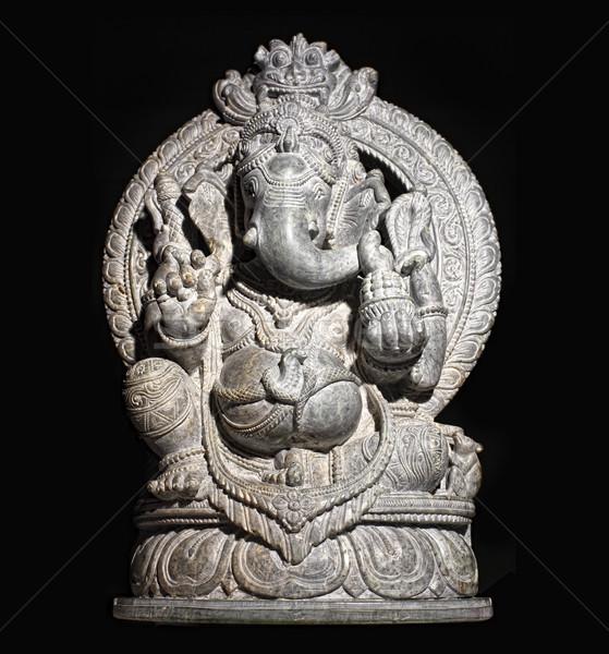 Isten izolált fekete kő kő istentisztelet Stock fotó © tiero