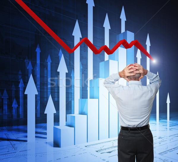 Zdjęcia stock: Problem · biznesmen · stałego · człowiek · powrót
