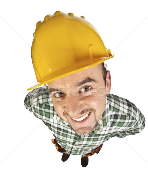 funny manual worker Stock photo © tiero