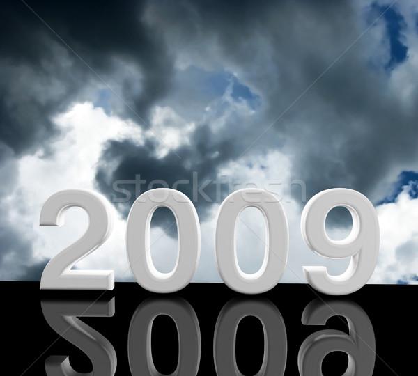 2009 3D kép fa buli absztrakt Stock fotó © tiero