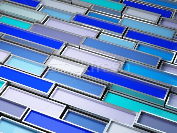 Bild 3D chrom Tank blau malen Stock foto © tiero