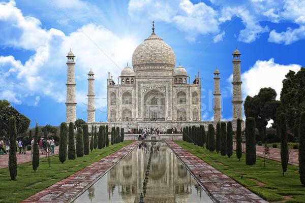 Taj Mahal Inde célèbre indian amour Voyage Photo stock © tiero