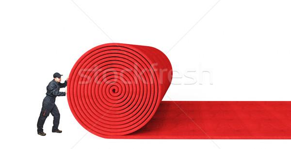 Alfombra 3D alfombra roja blanco negocios textura Foto stock © tiero