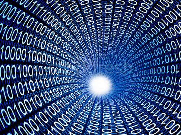 Bináris kód cső 3D kép számítógép internet Stock fotó © tiero