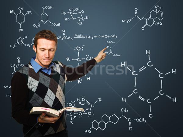 учитель действий молодые работу классический доске Сток-фото © tiero