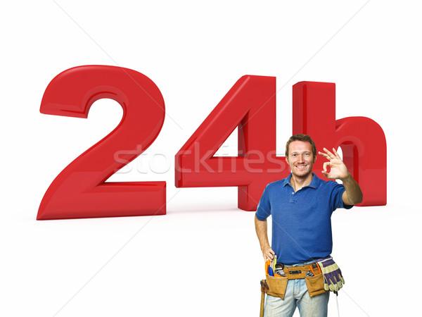 24 złota rączka usługi 3D obraz uśmiech Zdjęcia stock © tiero