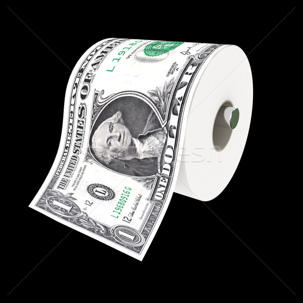 Dollar toiletpapier 3d illustration papier achtergrond Stockfoto © tiero