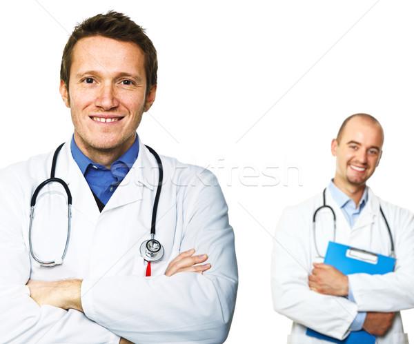 Sorridere medici isolato bianco focus immagine Foto d'archivio © tiero