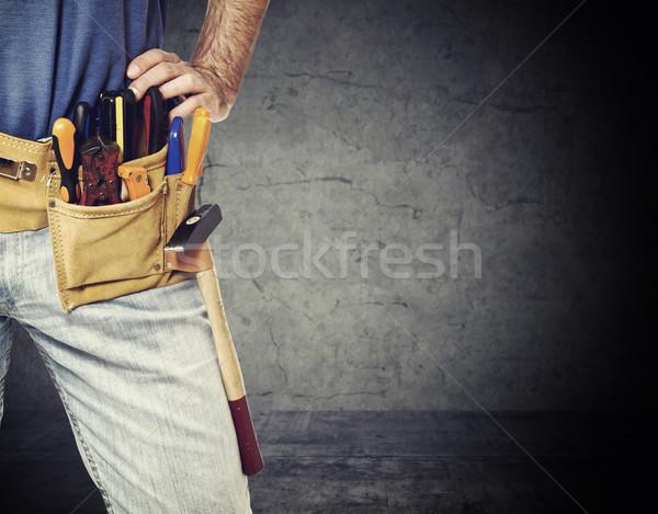 detail of handyman Stock photo © tiero