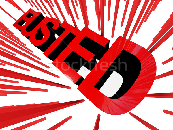 busted banner Stock photo © tiero