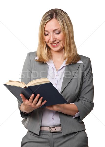 woman with book Stock photo © tiero