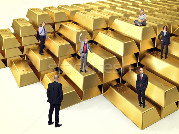 people on gold Stock photo © tiero