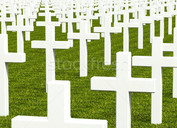 white cross grave Stock photo © tiero