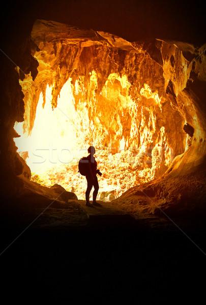 女子 洞穴 婆羅洲 馬來西亞 性質 景觀 商業照片 © tiero