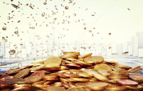 euro rain Stock photo © tiero