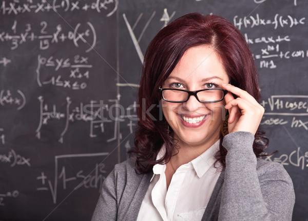 женщину учитель школы портрет доске красоту Сток-фото © tiero
