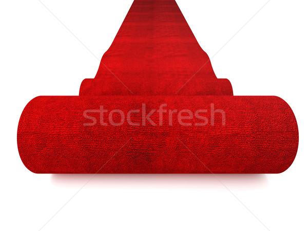 Photo stock: Tapis · rouge · classique · blanche · succès · tapis · célébration