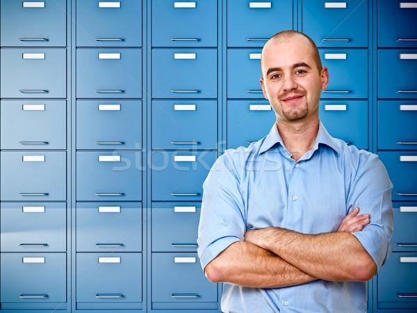 Lavoratore imprenditore immagine blu file Foto d'archivio © tiero
