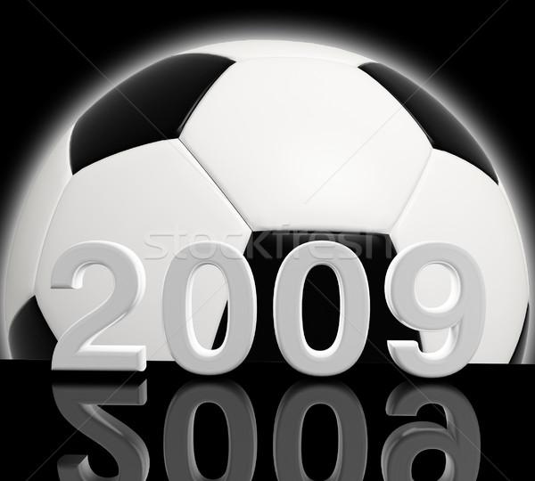 év futball 3D kép 2009 buli Stock fotó © tiero