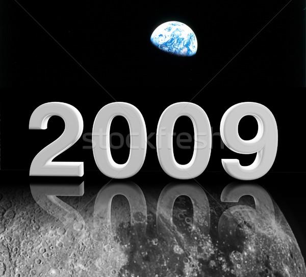2009 ay 3D görüntü yılbaşı parti Stok fotoğraf © tiero
