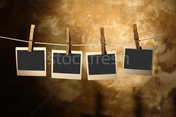 Polaroid fotó klasszikus öreg papír fal Stock fotó © tiero