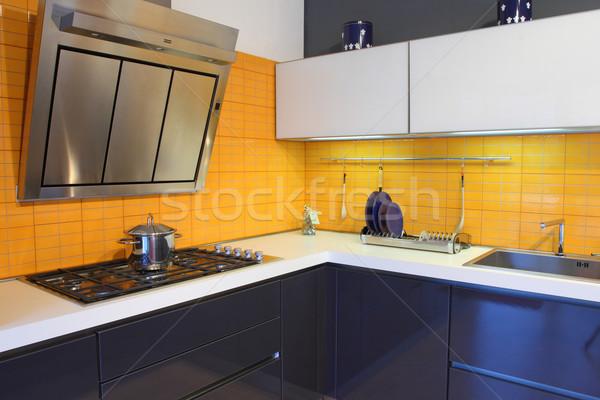 yellow kitchen Stock photo © tiero