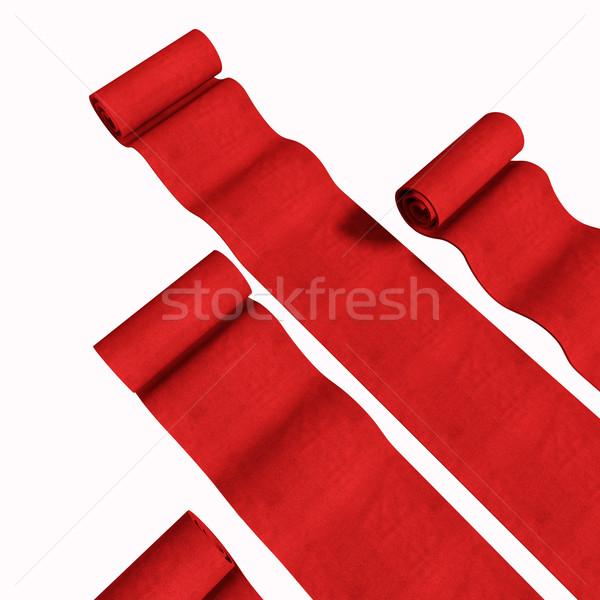 Rood 3D geïsoleerd witte business tapijt Stockfoto © tiero