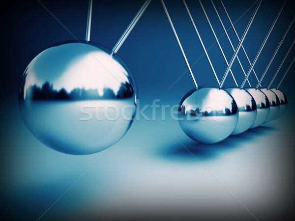 newton cradle 3d Stock photo © tiero