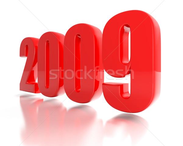 Kırmızı yeni yıl 2009 3D görüntü Stok fotoğraf © tiero