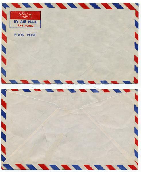 Lucht mail afbeelding klassiek vintage envelop Stockfoto © tiero
