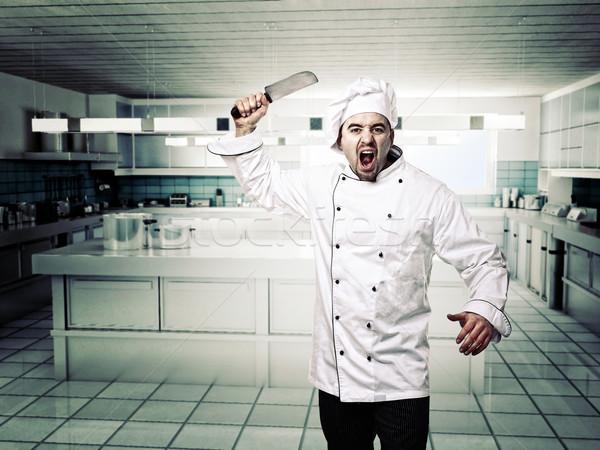 angry chef Stock photo © tiero