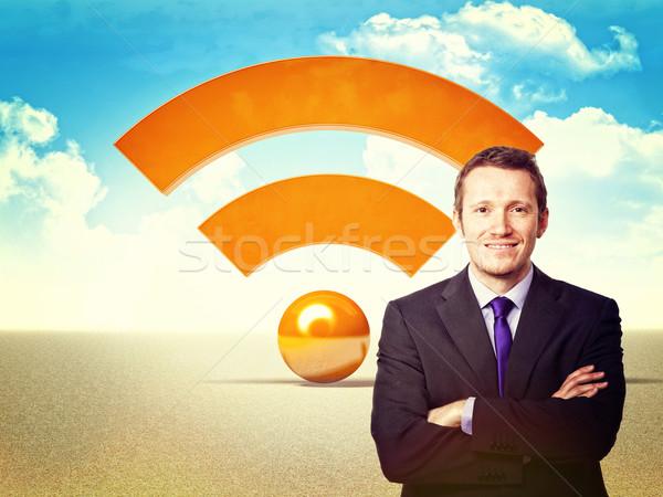 Man rss portret volwassen symbool internet Stockfoto © tiero