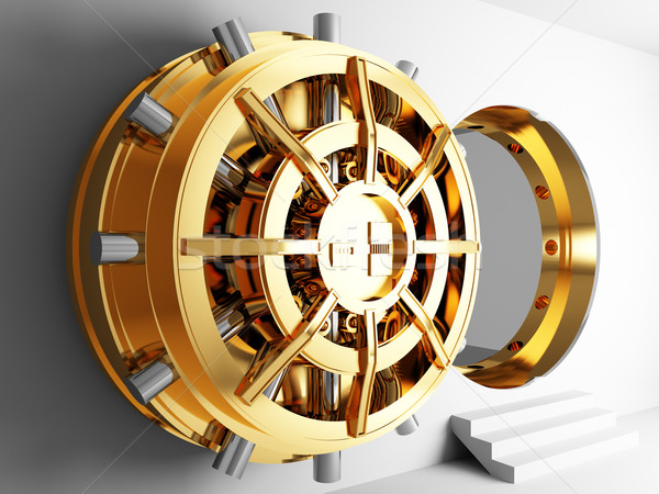bank vault door 3d Stock photo © tiero