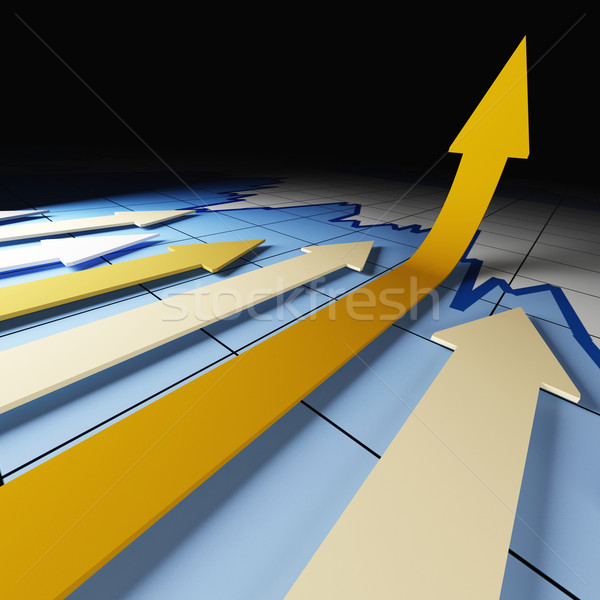 graph arrows stat Stock photo © tiero