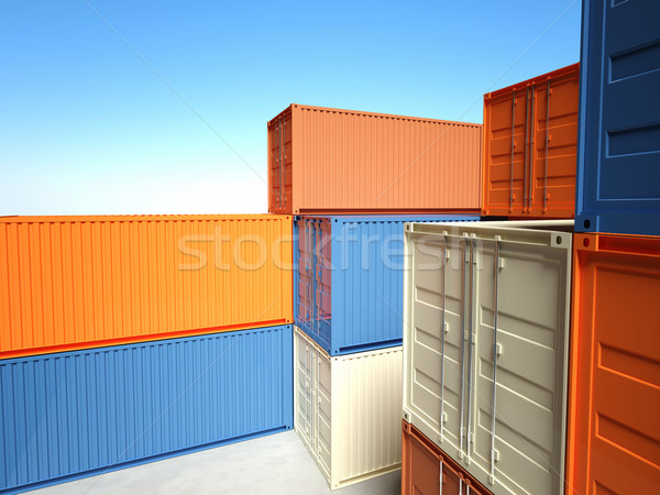 container 3d  Stock photo © tiero