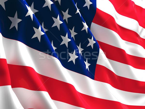 öreg dicsőség zászló 3D kép Amerika Stock fotó © tiero