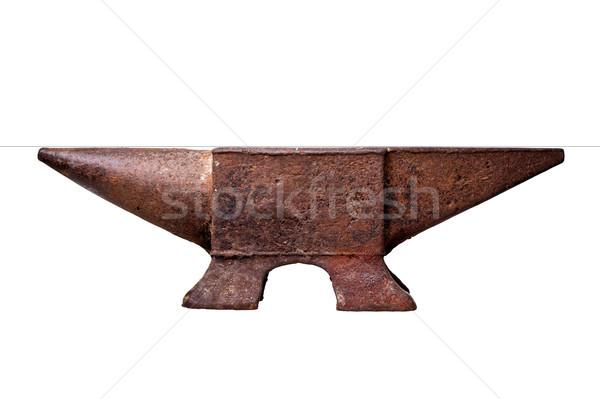 Eisen Amboss isoliert weiß Arbeit Stock foto © tiero