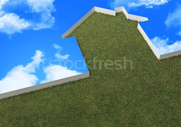 теплица небе 3D изображение метафора Blue Sky Сток-фото © tiero