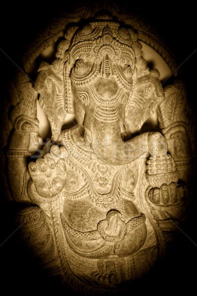 Szobor közelkép kép Isten India háttér Stock fotó © tiero