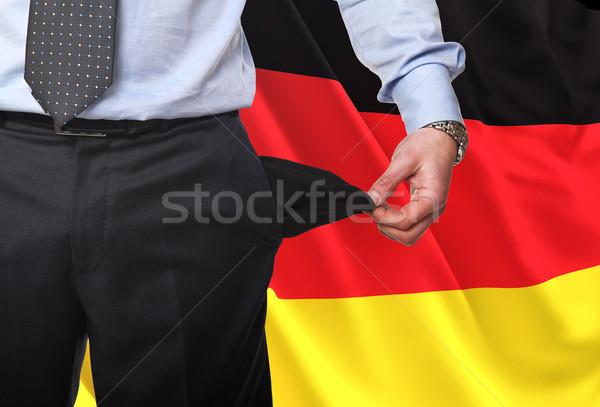 рецессия Германия изображение человека пусто Сток-фото © tiero