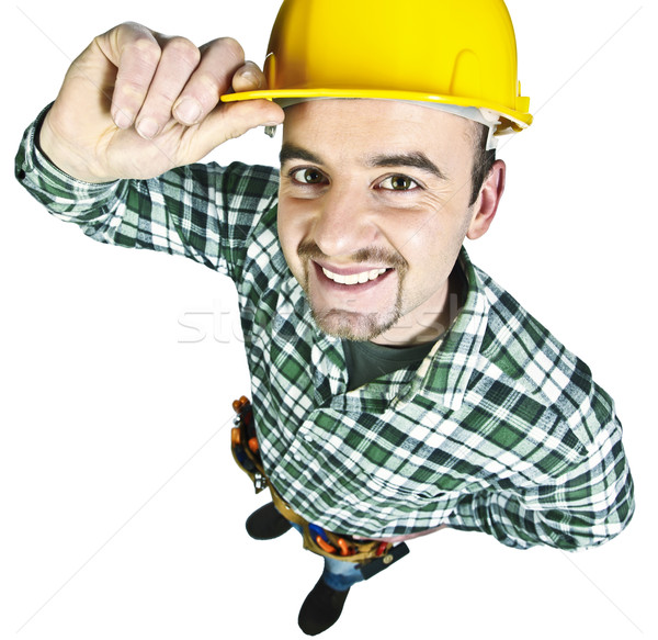 happy funny handyman Stock photo © tiero