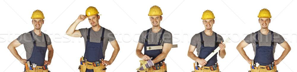 isolated handyman collection Stock photo © tiero