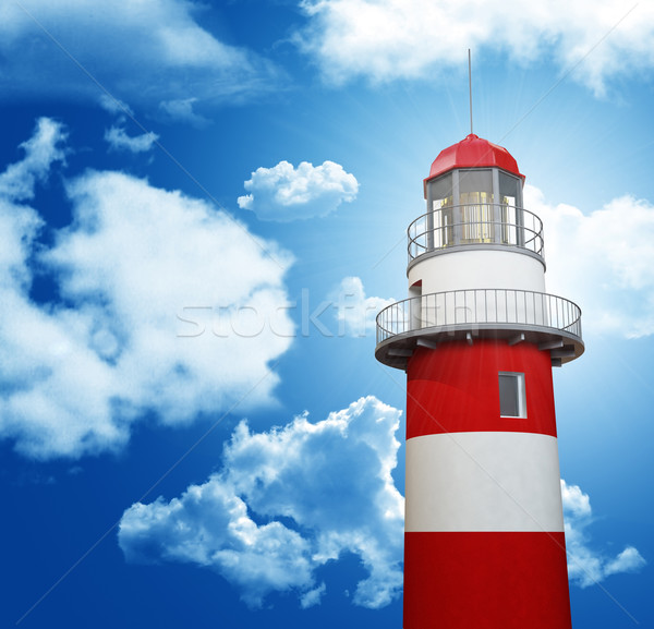 lighthouse and blue sky Stock photo © tiero